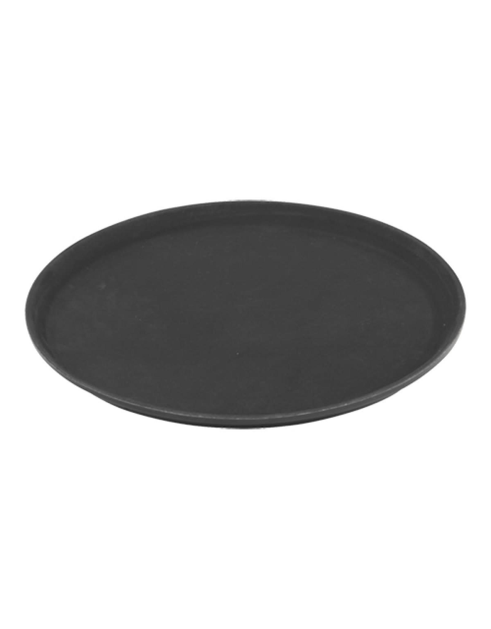 Dienblad anti-slip rond zwart 36cm