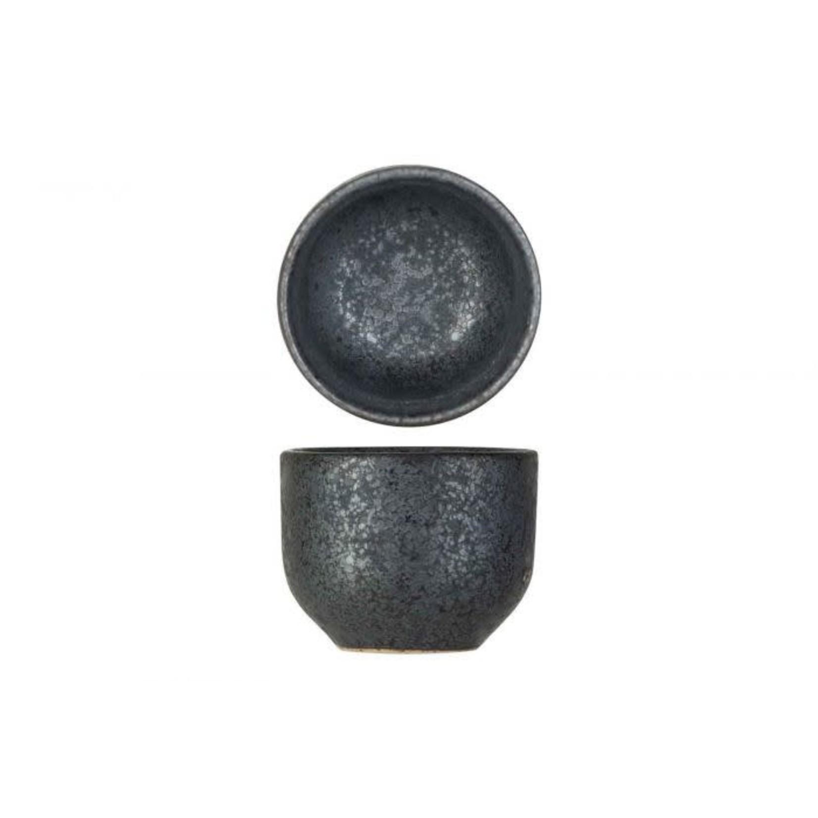 Eierdopje / kommetje grijs 5 x 4cm aardewerk