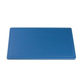 Snijplaat HDPE blauw sapgoot met pootjes 40x25cm