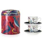 """Images d'orient 2 x kop & schotel """"Birds of Paradise"""" in geschenkblik"""