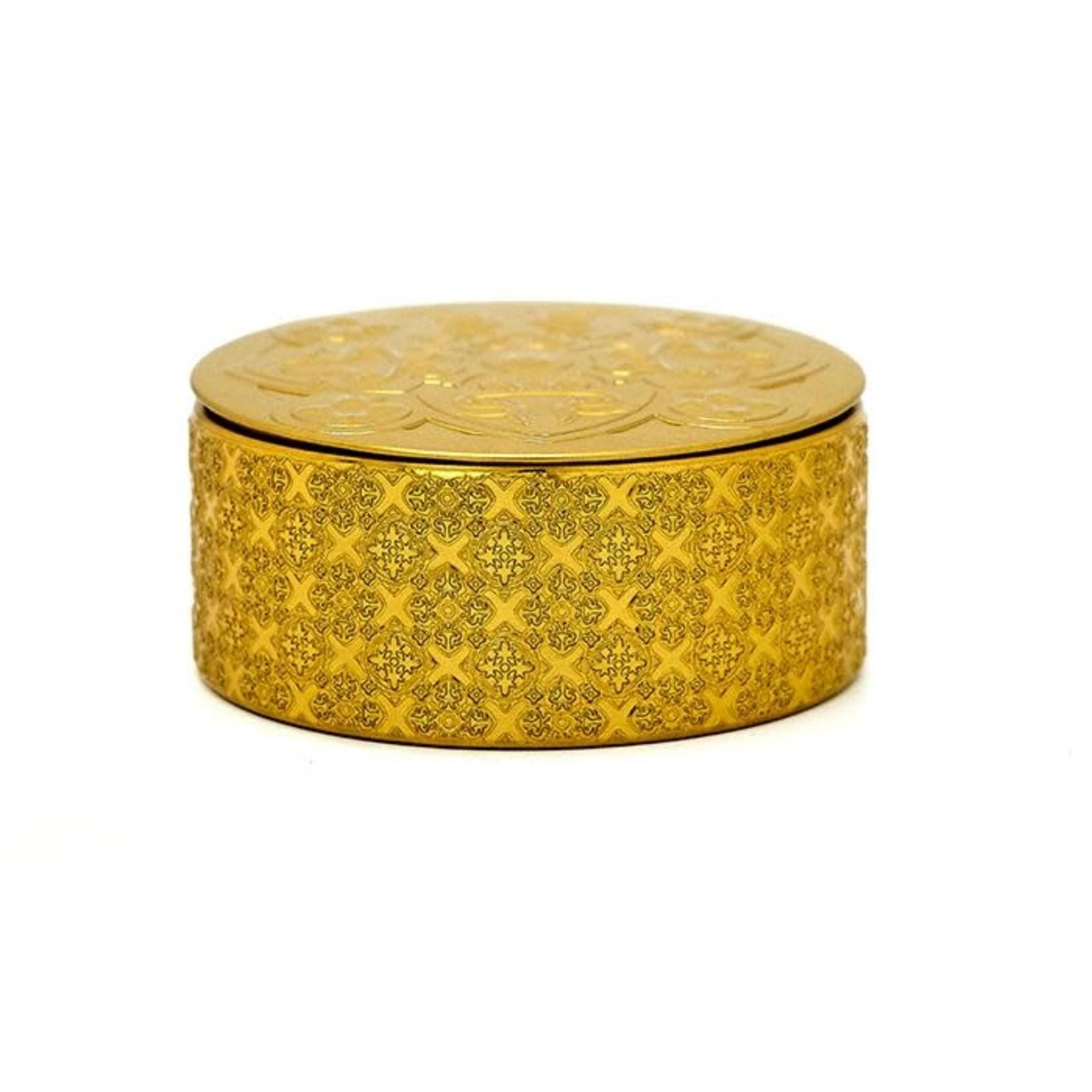 Images d'orient Doos voor 6 siliconen glazenonderzetters goud