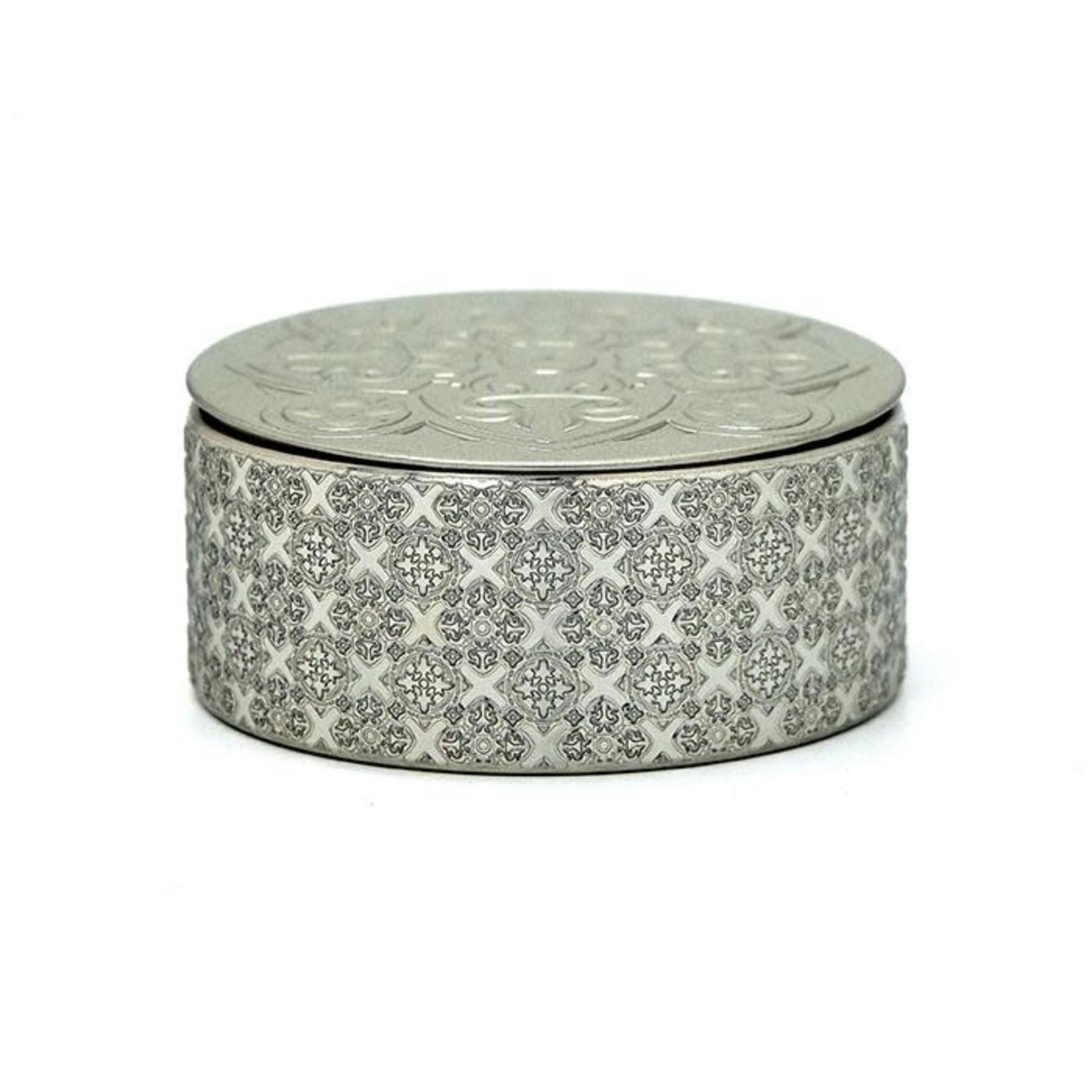 Images d'orient Doos voor 6 siliconen glazenonderzetters zilver