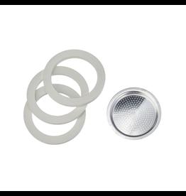 Bialetti Ring + filter 3- / 4-kops aluminium