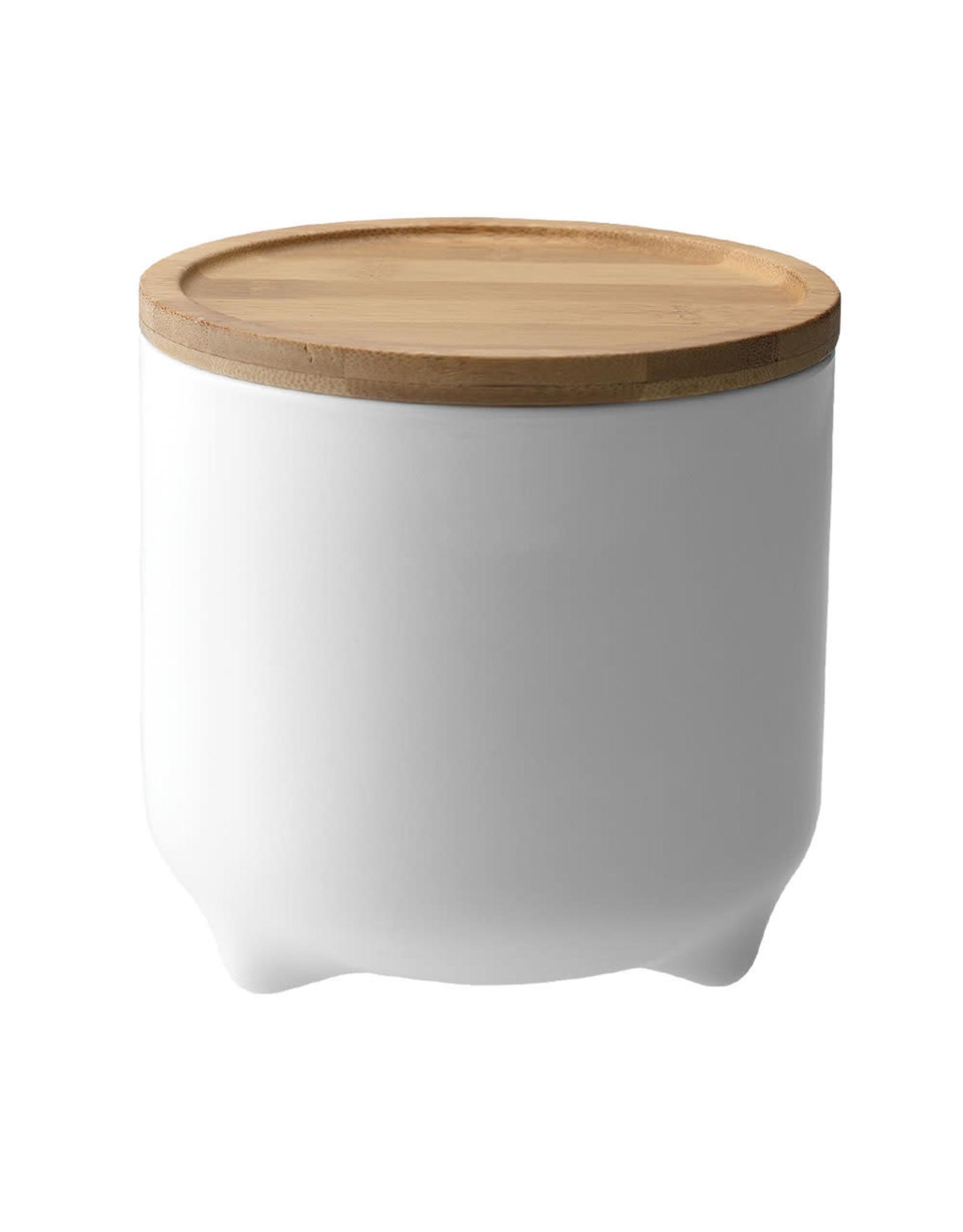 Loveramics Voorraadpot porselein en bamboe met siliconen afsluitring 1,5L