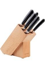 Scanpan 5 messen met houten blok