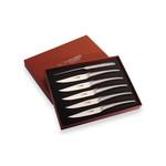 Laguiole en Aubrac 6 Monobloc steakmessen RVS