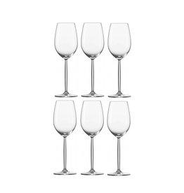 6 Diva witte-wijnglazen 302 ml