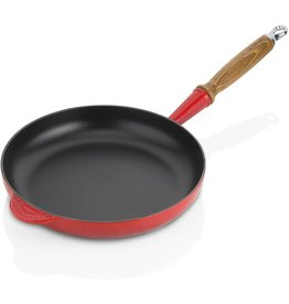 Le Creuset gietijzeren koekenpan 24cm rood