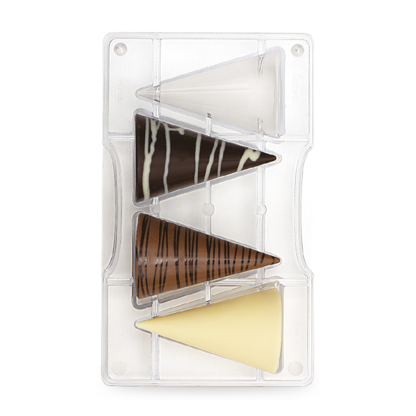 Decora Chocoladevorm polycarbonaat grote conus  /2