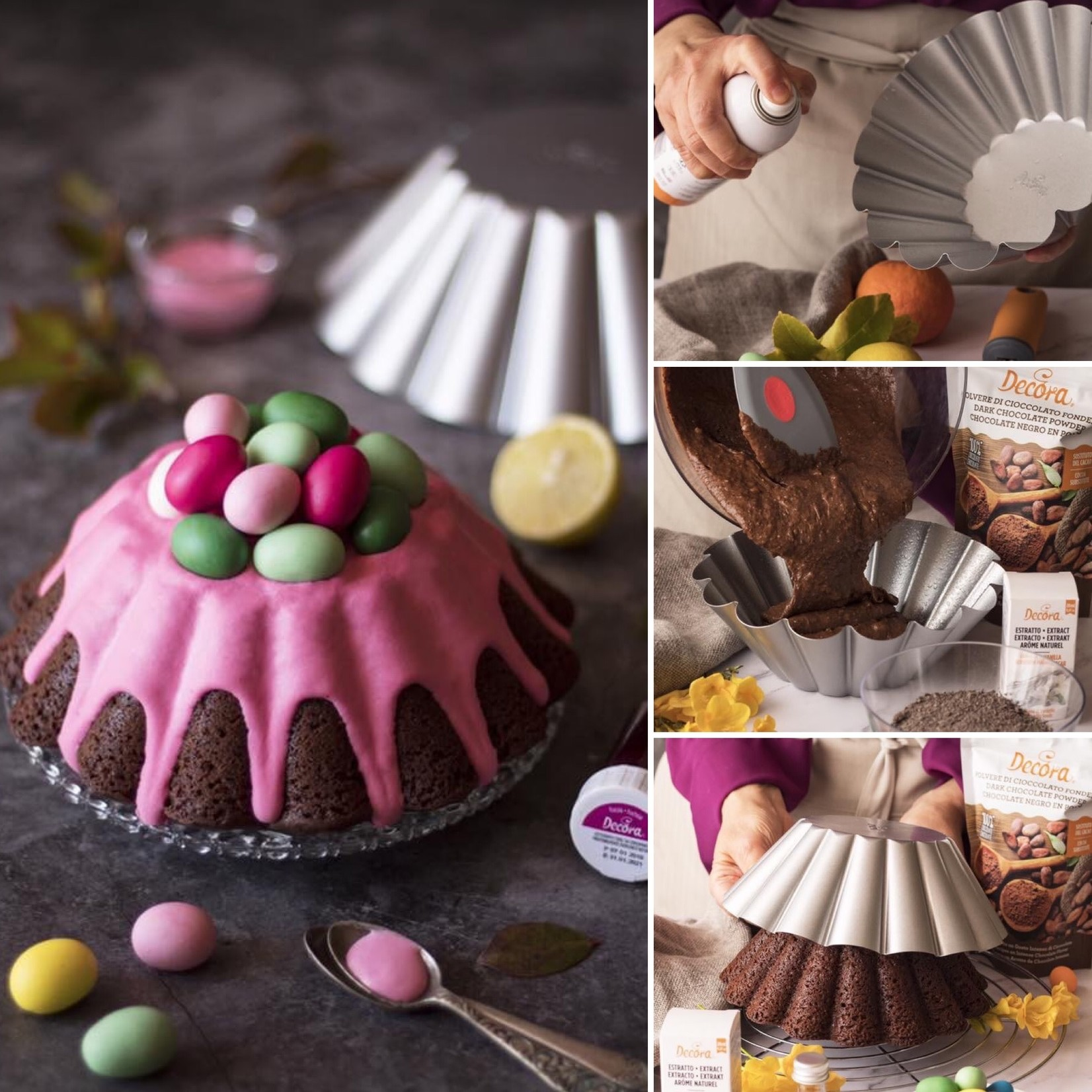 Decora Brioche/puddingvorm met antikleeflaag 24cm