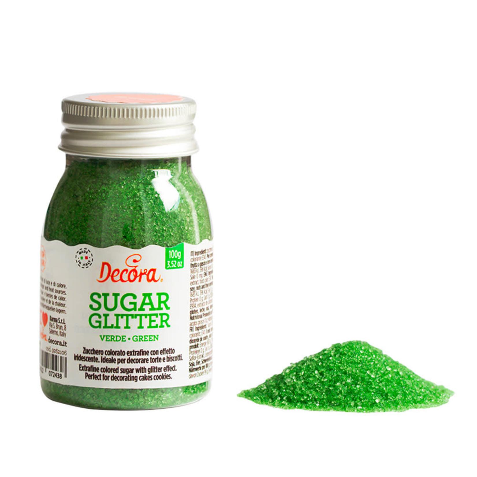 Decora glittersuiker groen 100g  /6