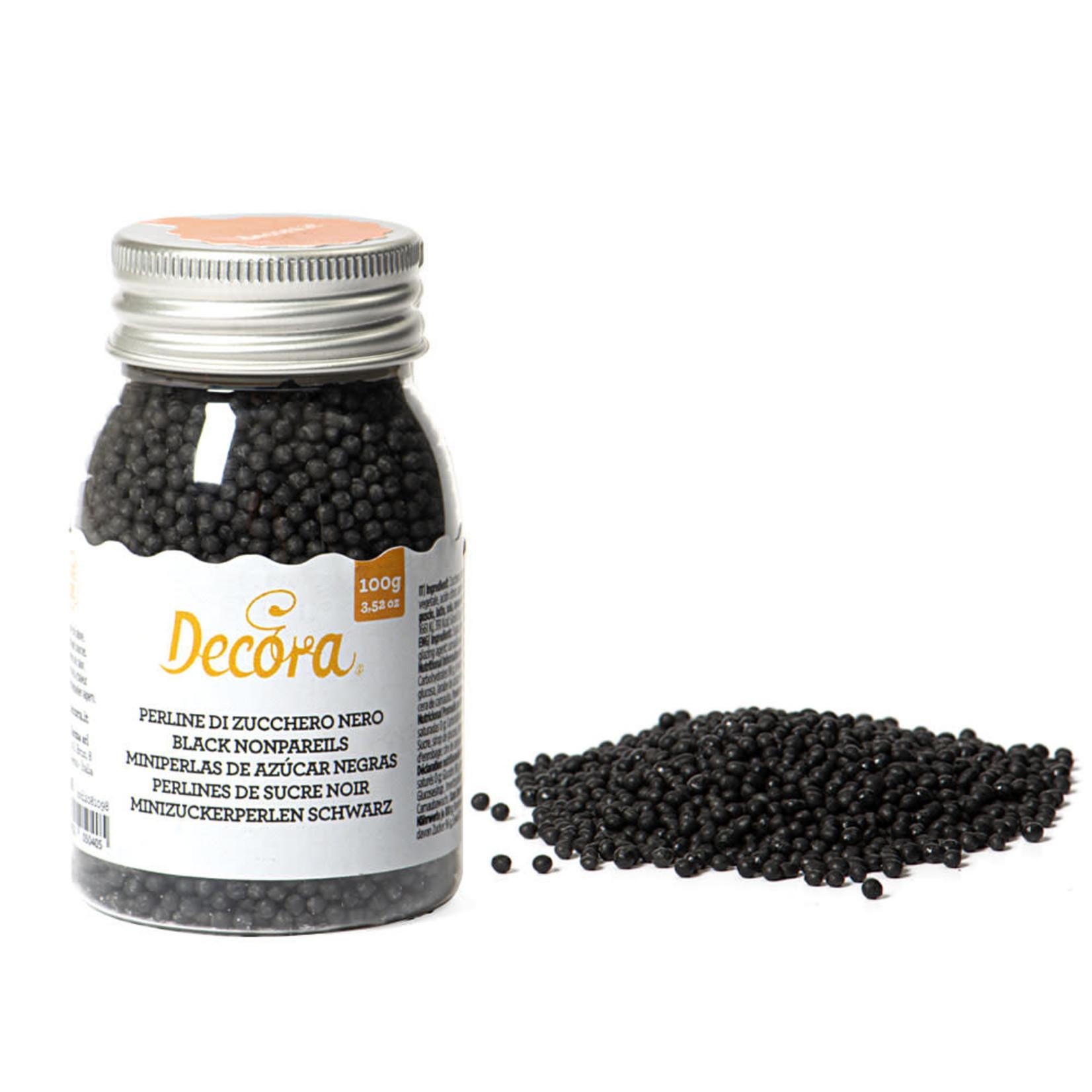 Decora pareltjes zwart 100g  /6