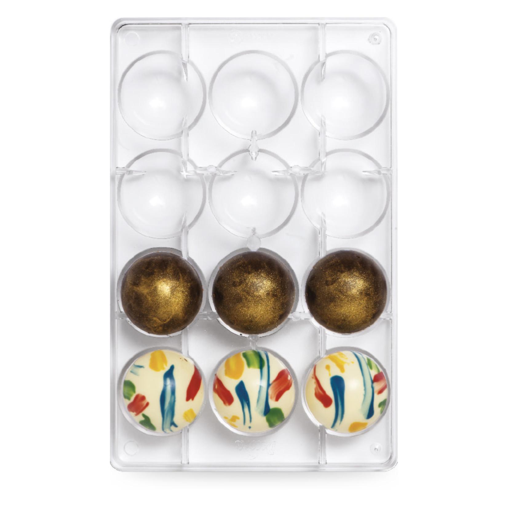 Decora Chocoladevorm polycarbonaat halve bol 50mm