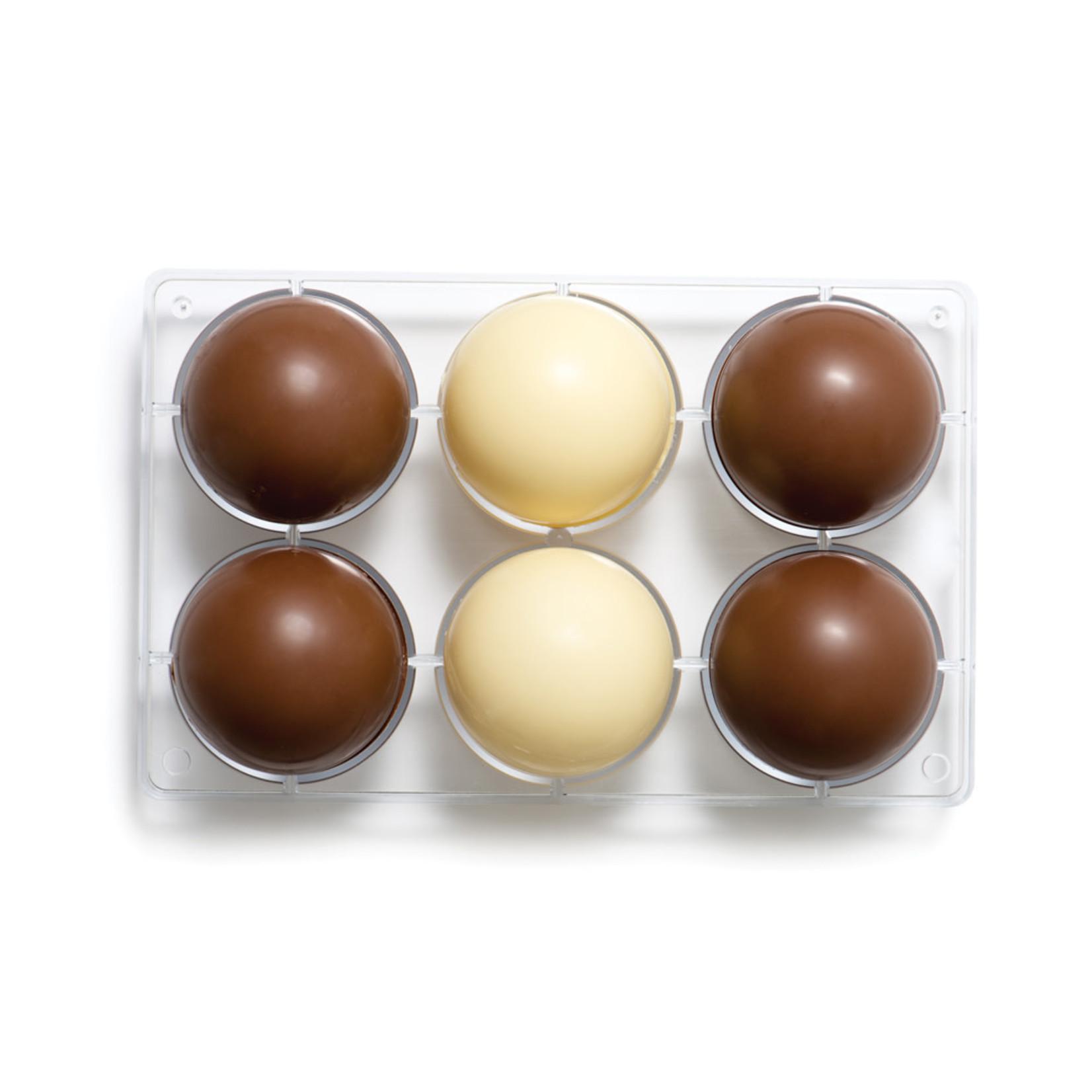 Decora Chocoladevorm polycarbonaat halve bol 75mm