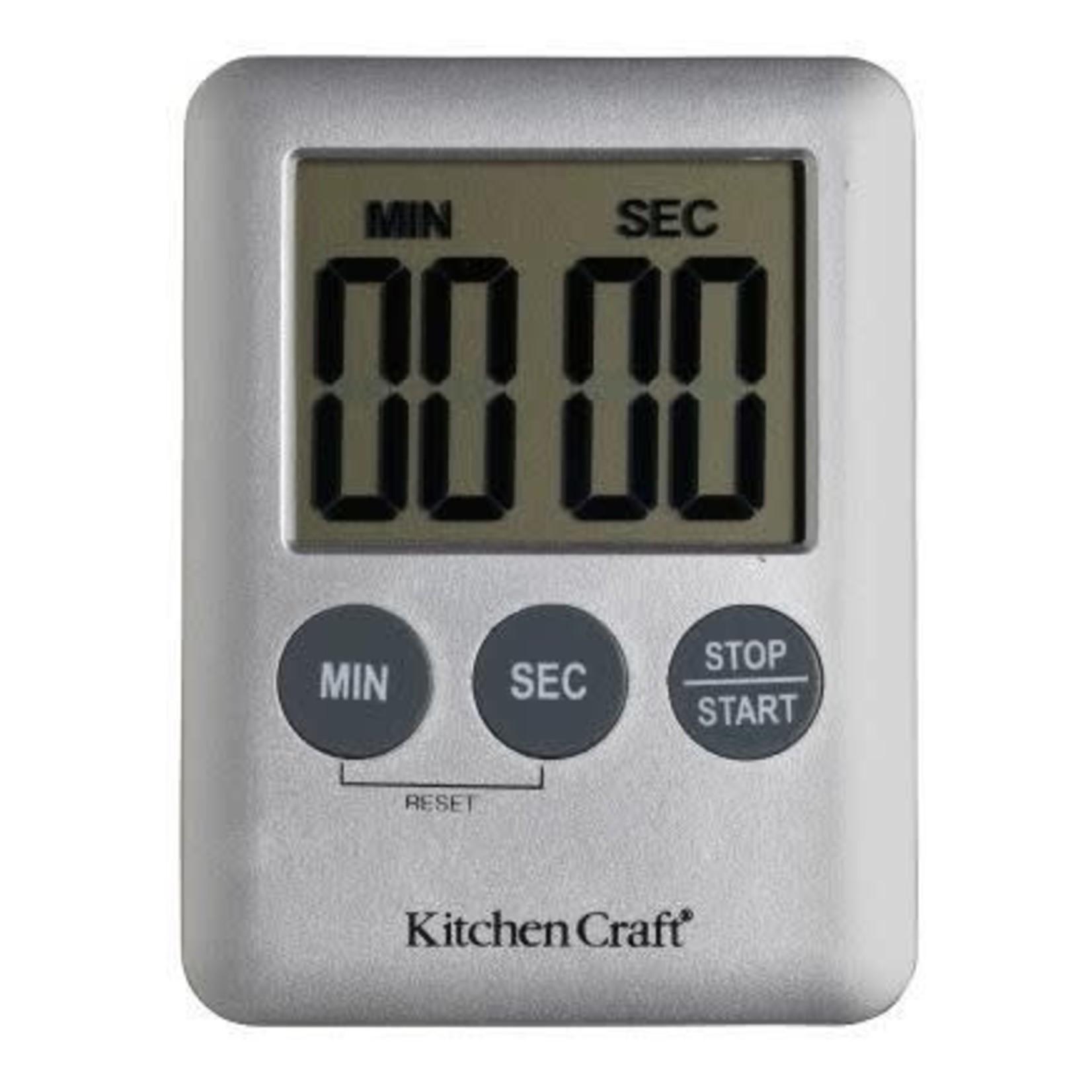 Kitchencraft Kookwekker digitaal zilvergrijs