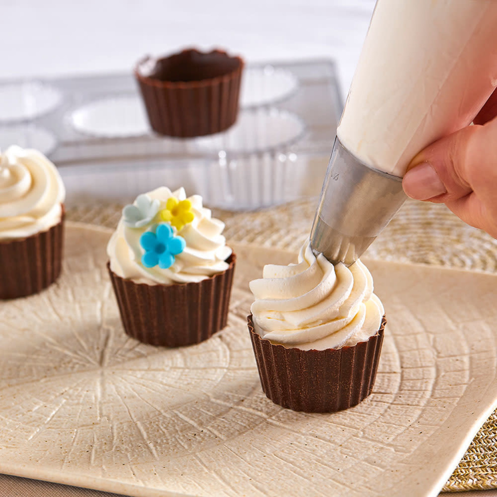Decora Chocoladevorm polycarbonaat cupcakebakje