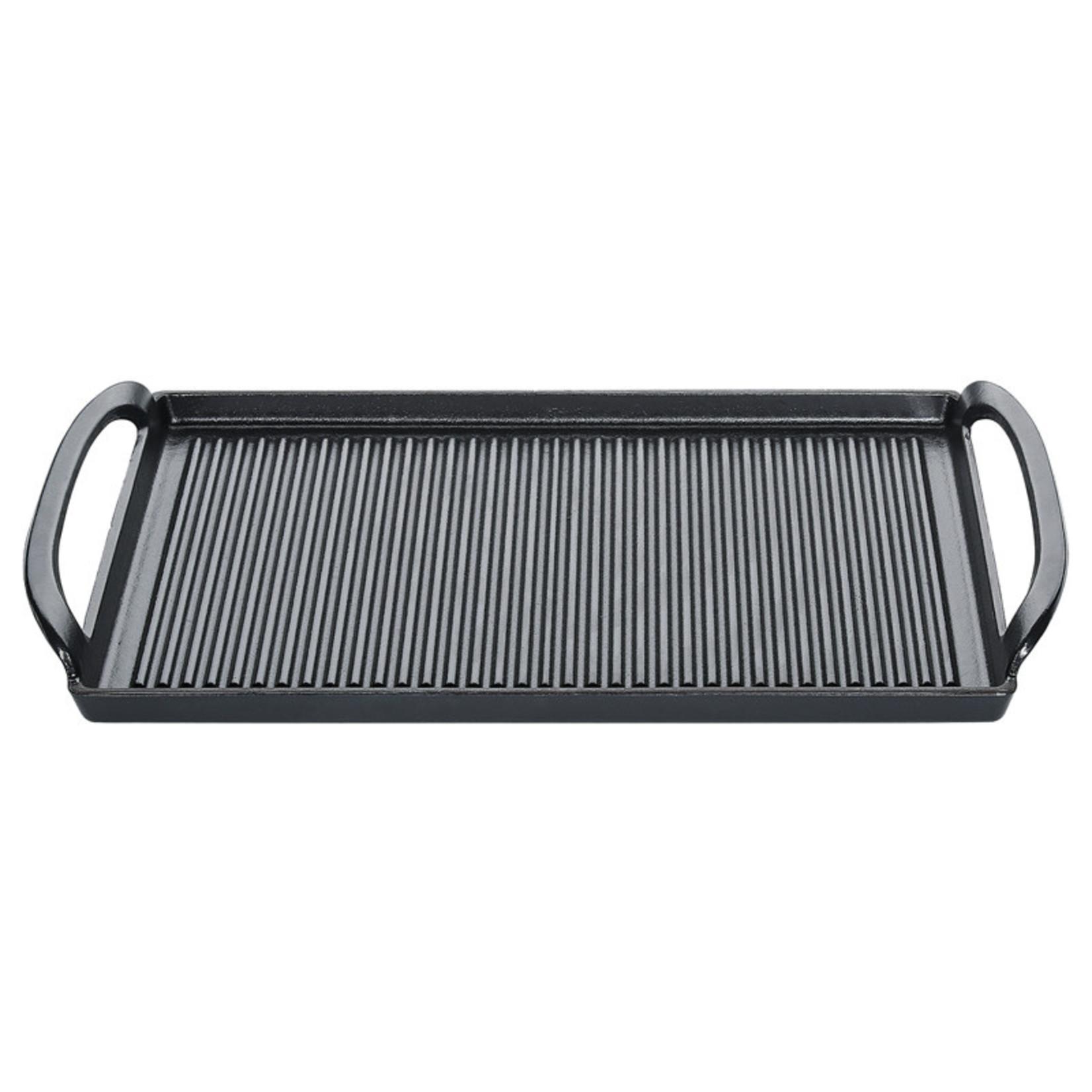 Küchenprofi Zwarte geëmailleerde gietijzeren grillplaat 38x23cm
