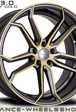 "Advance Wheels ""AV 3.0 Gunmetal polish"" 8,5 x 19 Audi , Honda , Hyundai , Kia , Opel , Saab , Rover , Seat , Skoda , Subaru , VW ...."