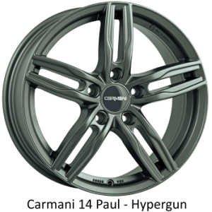 "Carmani Wheels Carmani "" 14 Paul "" 6,5 x 16 Audi,Ford,Fiat,Mercedes,Mitsubishi,Nissan,Renault,Seat,Skoda,VW ....."