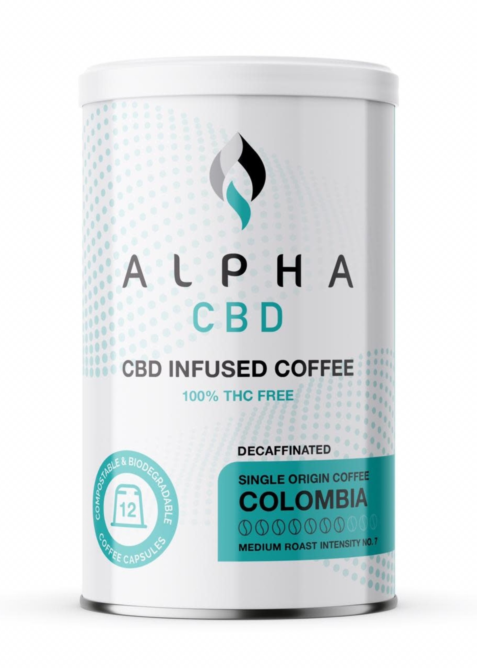 Alpha CBD - Colombian Decaf coffee capsules