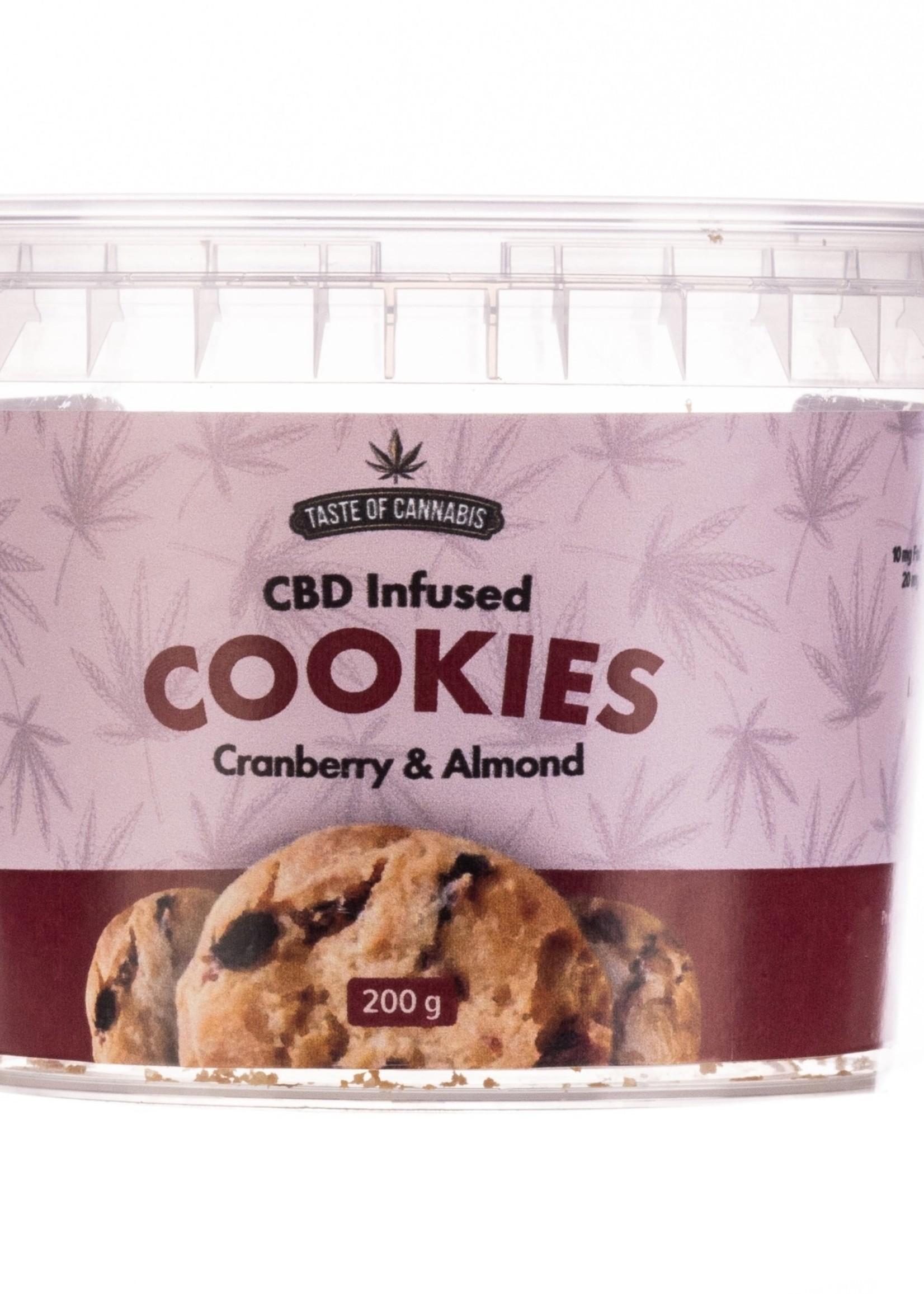 TOC CBD cookies - Cranberry & almond