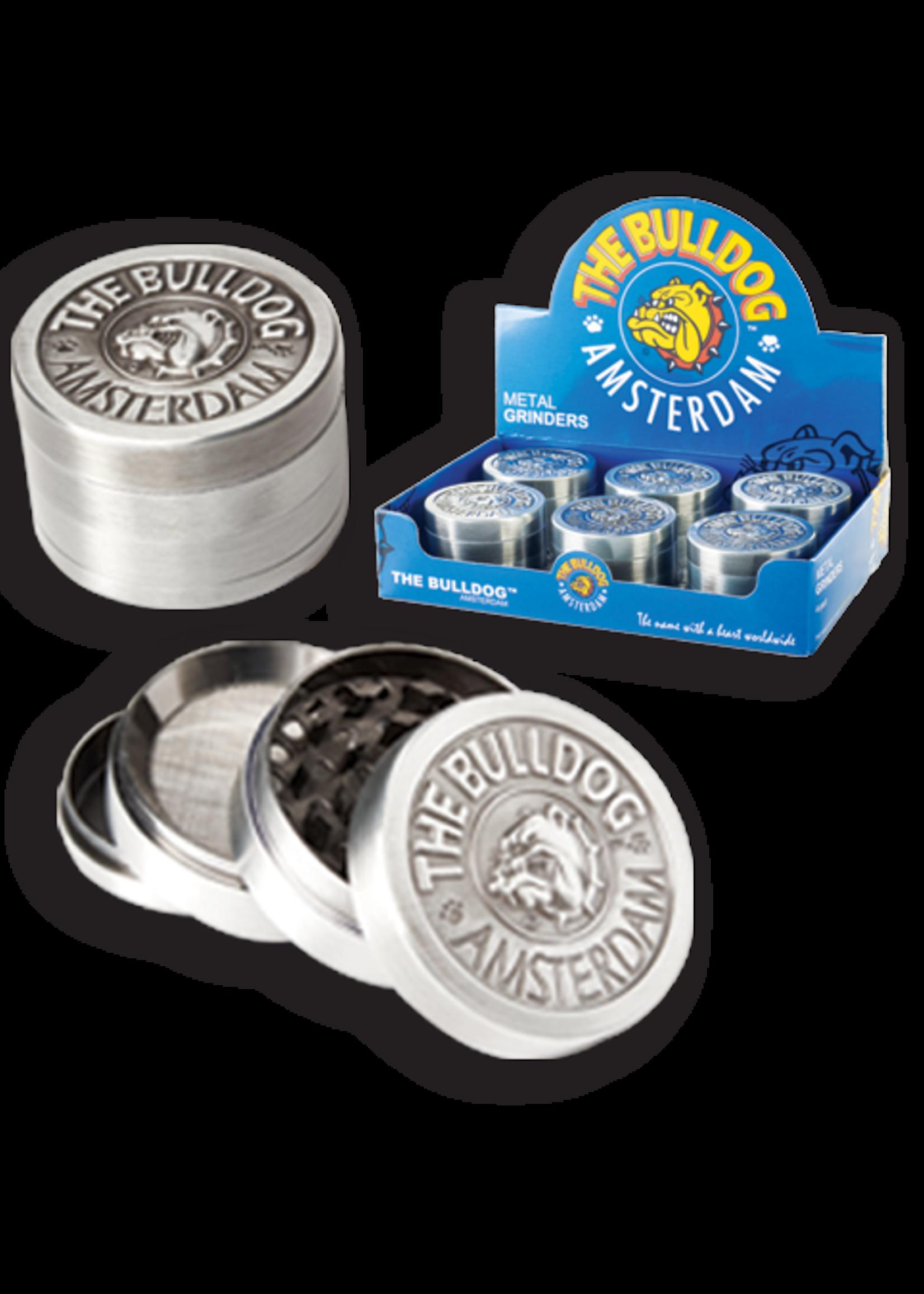 Herb grinder - The bulldog silver metal