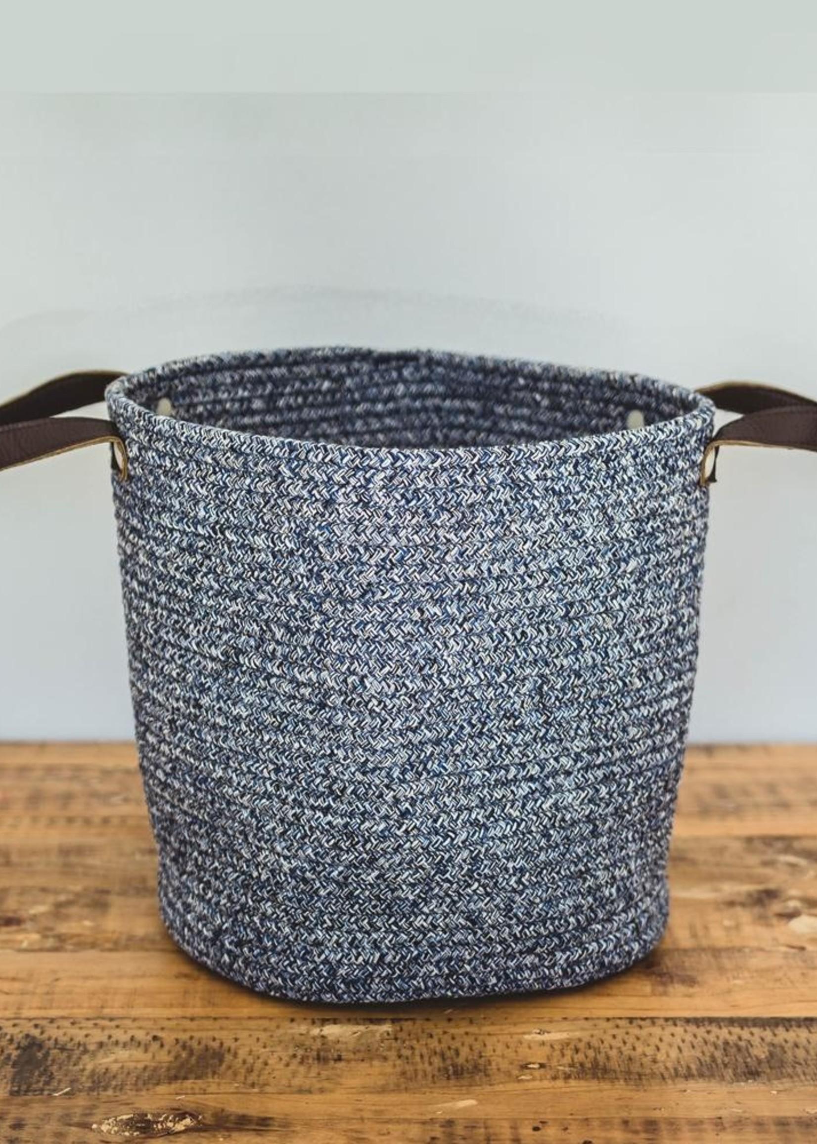 Cotton Beach Bag Medium Blue