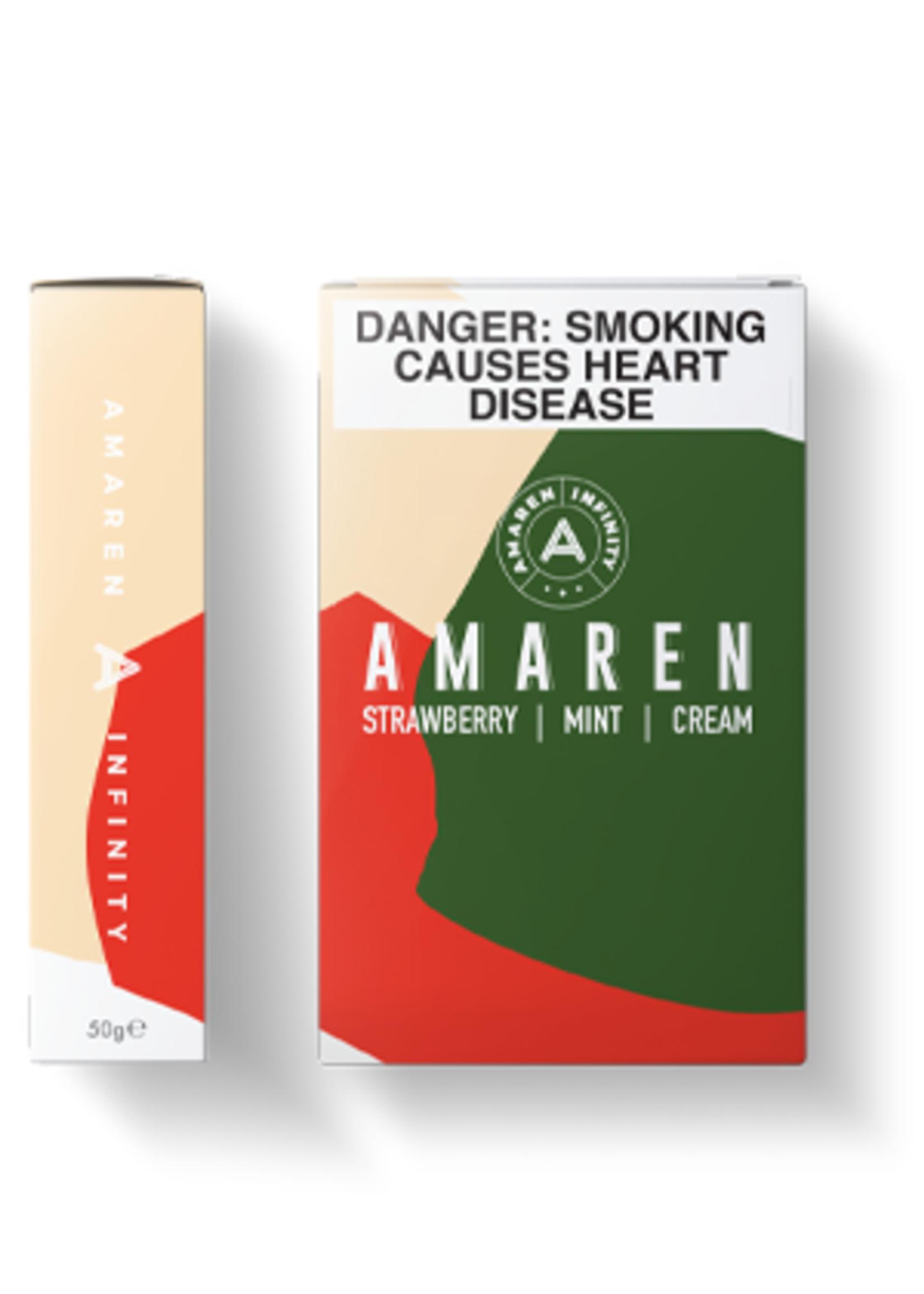Amaren hubbly flavour - strawberry mint cream