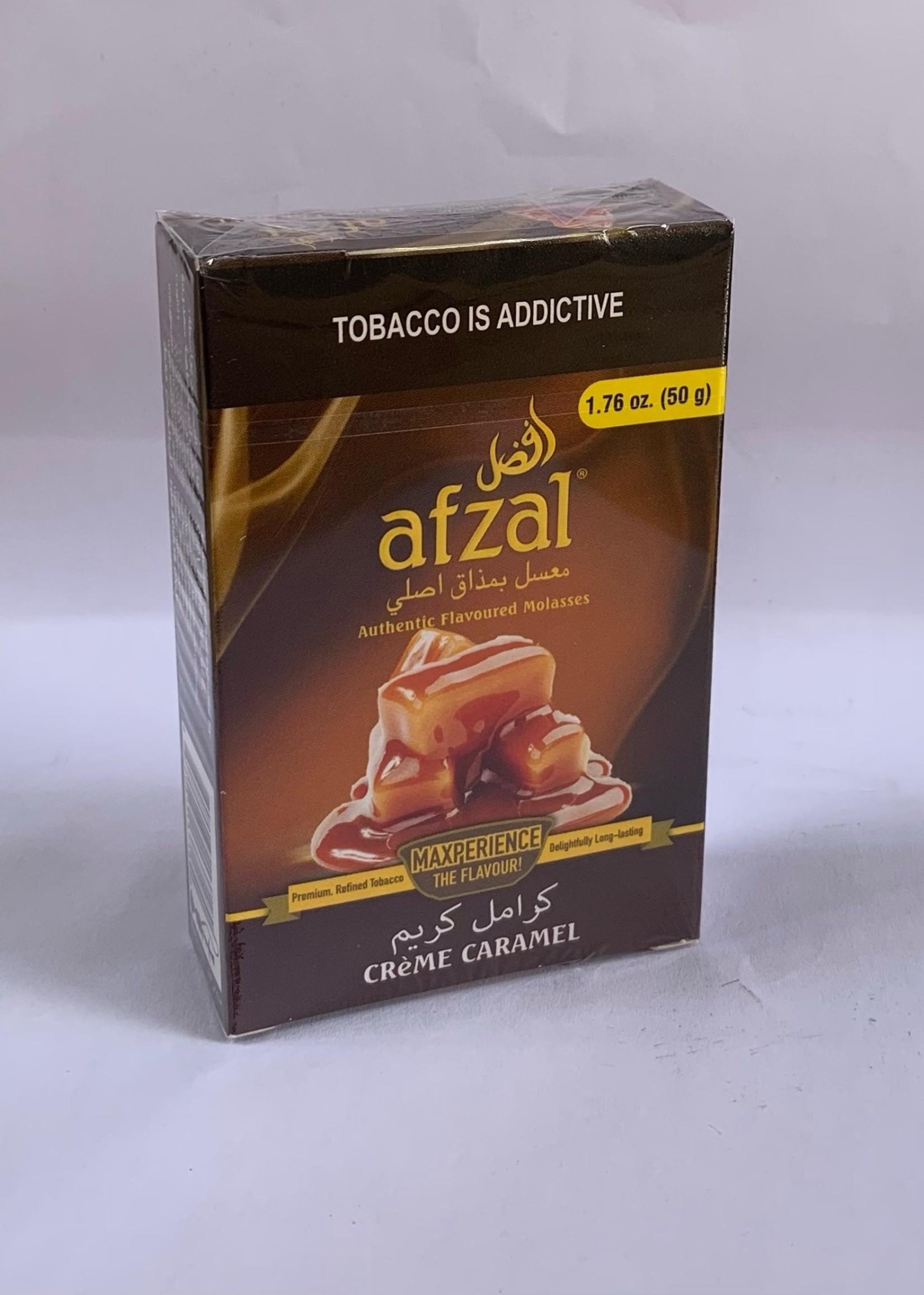 Afzal hubbly flavour - crème caramel