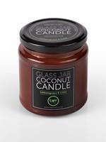 Amber glass jar coconut candle - Lemongrass and lime