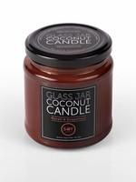 Amber glass jar coconut candle - Neroli and grapefruit