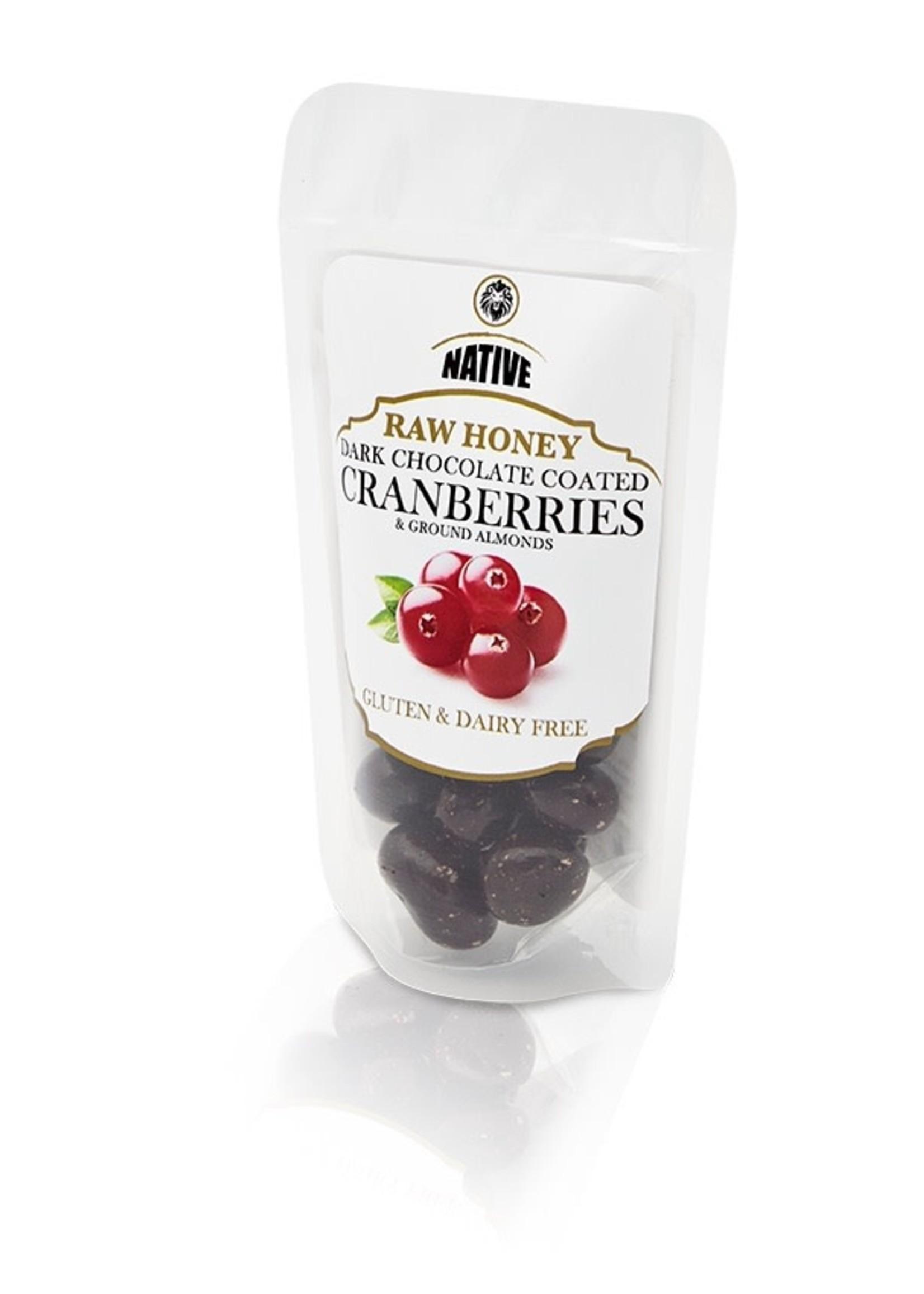 Native Native - Cranberry- Raw Honey & Choc 50g
