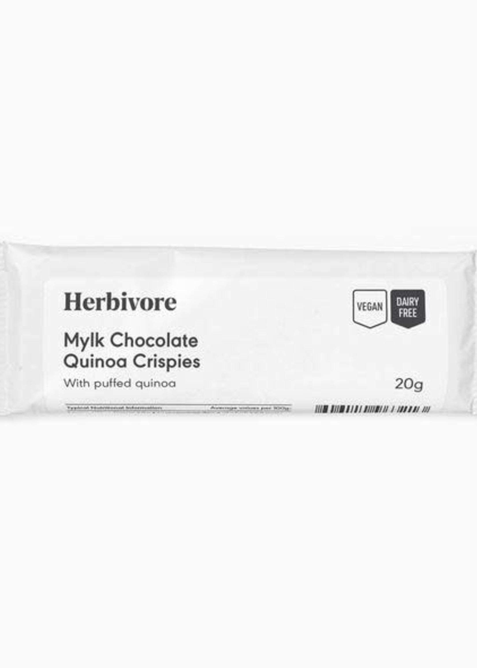 Herbivore - Mylk Chocolate quinoa crispies