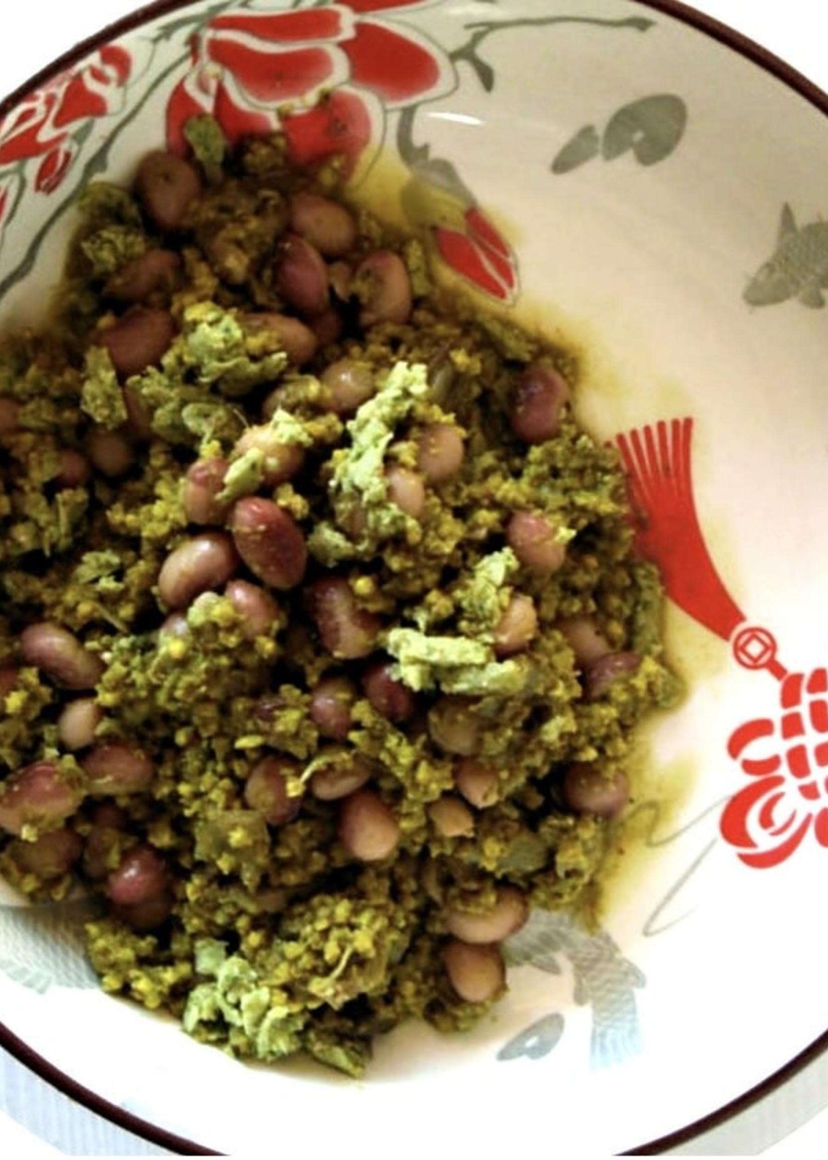 Free Food Free Food - Sugar bean & basil pesto millet bake