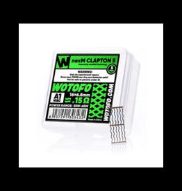 WoToFo WoToFo nexMESH Clapton S NI80 A1 0.15Ω Mesh Coil (16x6.8mm)