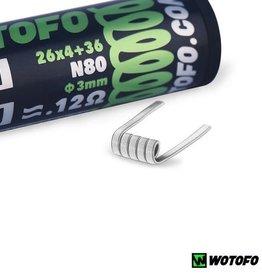 WoToFo WoToFo Quad Core Fused Clapton NI80 0.12Ω