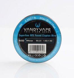 Vandy Vape Vandy Vape Ni80 Superfine MTL Fused Clapton Wire