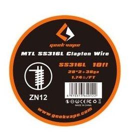 Geek Vape Geek Vape MTL SS316L Clapton Wire (ZN12)