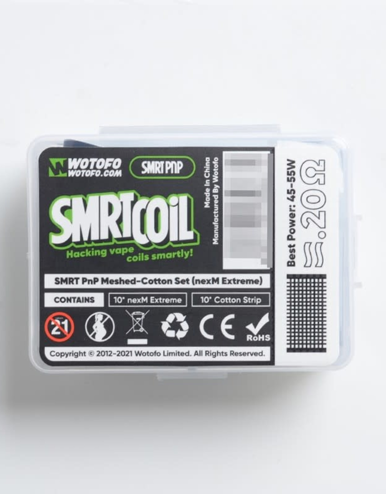 WoToFo Wotofo SMRT PnP Meshed und Cotton