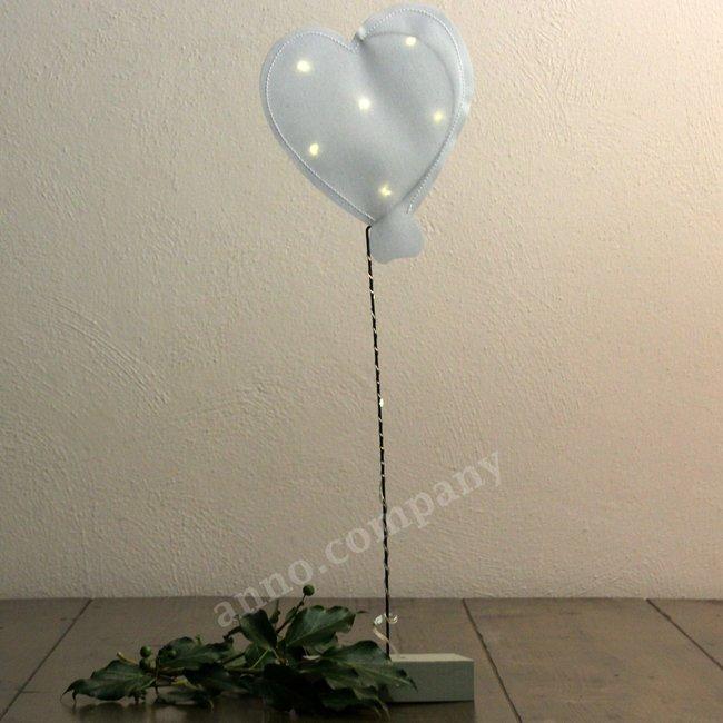 Ballon hart met led