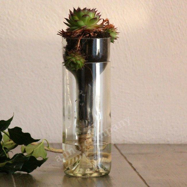 Glazen reservoir bloempot