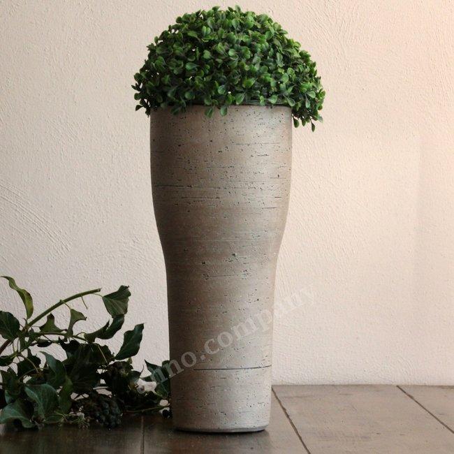 Aardewerken design bloempot beton-look