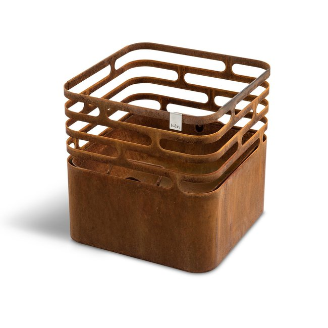 Hofats Cube Vuurkorf roest