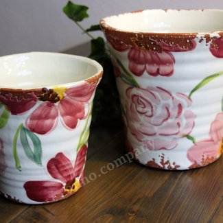Villa Pottery Gekleurde pot Flowergarden