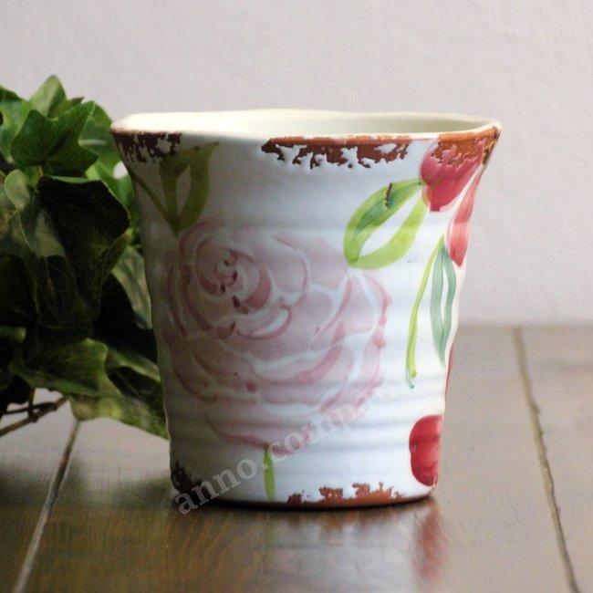 Villa Pottery Gekleurde pot Flowergarden - pink