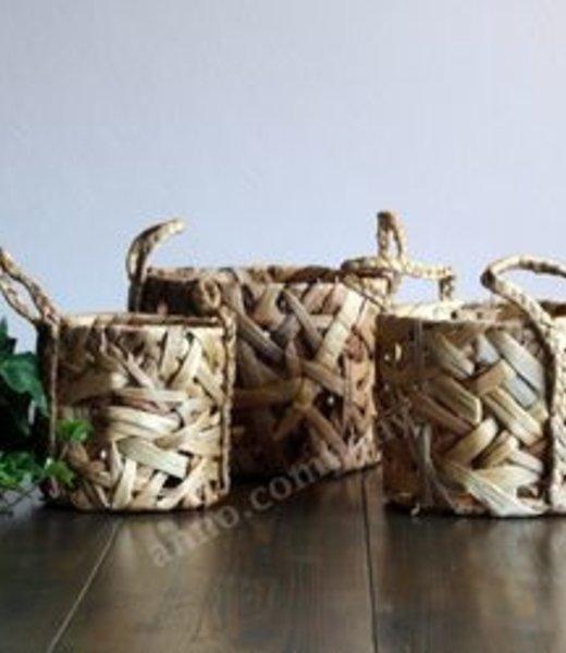 Waterhyacint manden set van 3