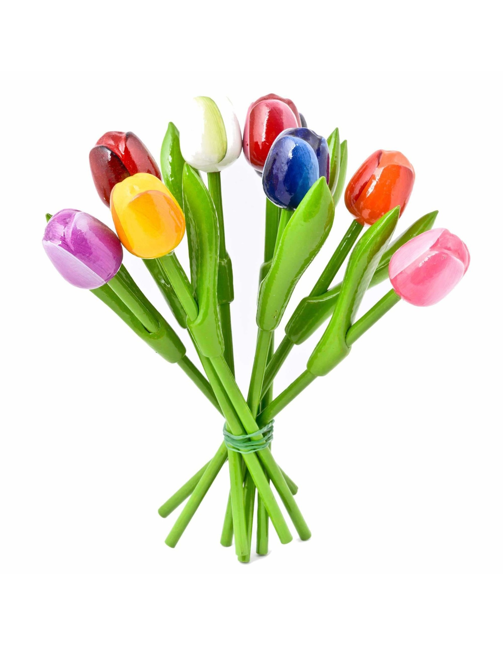 Bouquet of Wooden Tulips, Small, 9 pieces