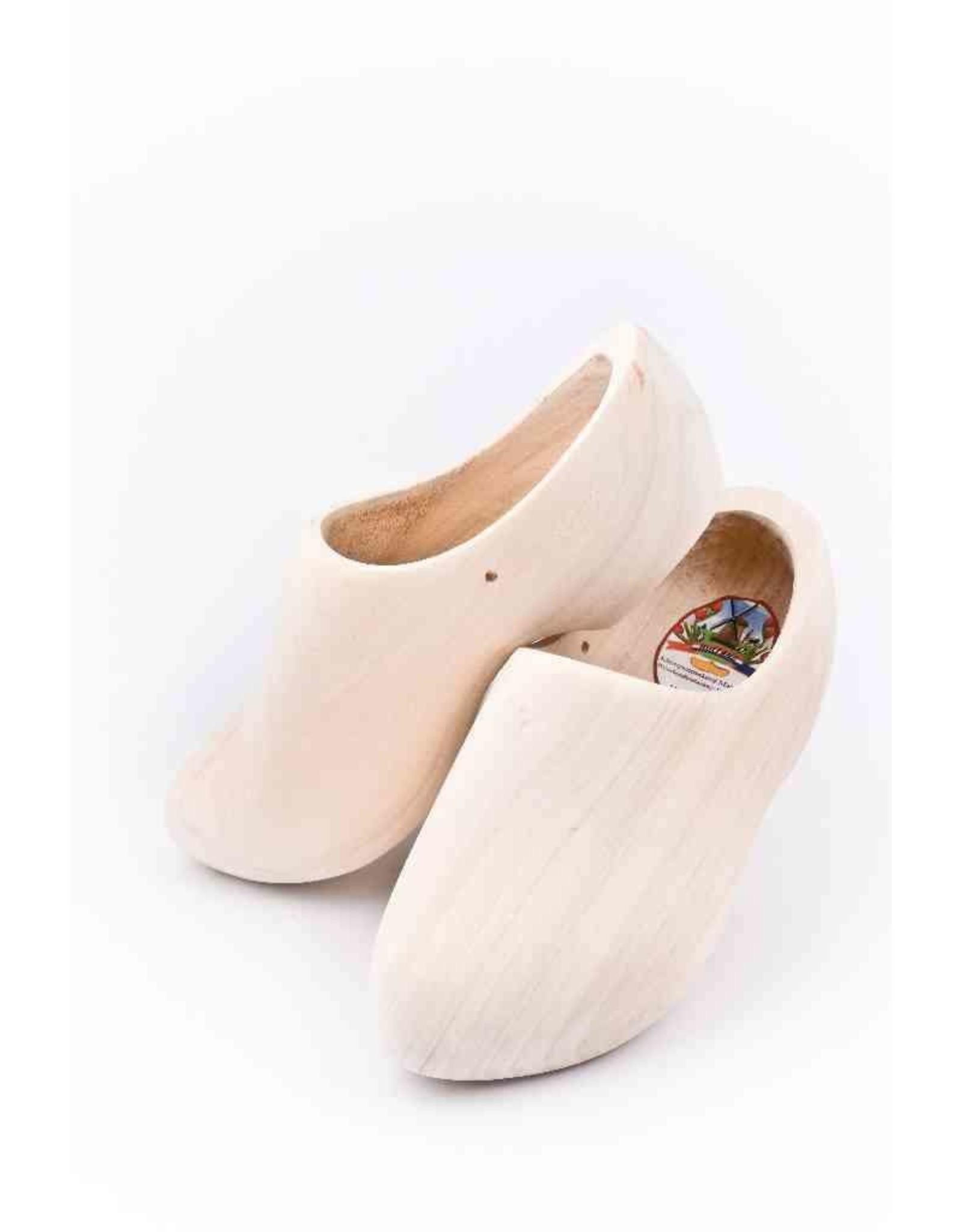 Wooden Shoe Factory Marken Wooden Shoes,  Plain Sanded