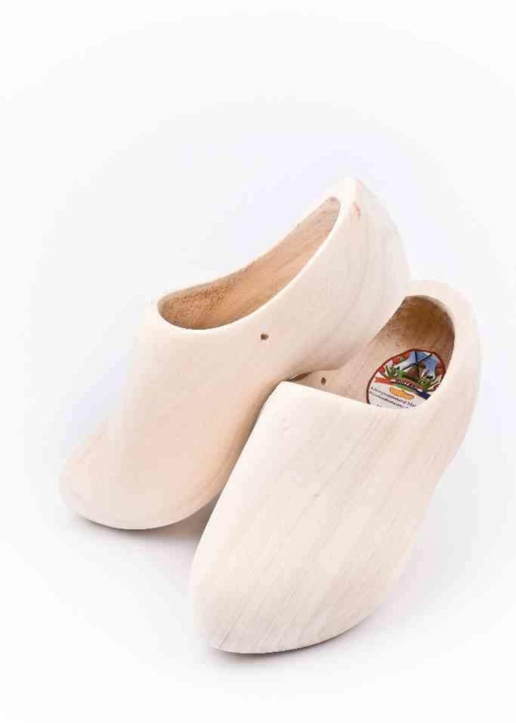 Wooden Shoe Factory Marken Klompen, Blank Geschuurd