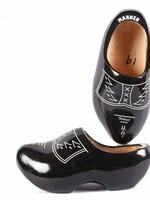 Wooden Shoe Factory Marken Wooden Shoes Traditional Black Design
